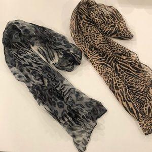 2 4 1 animal print scarfs!